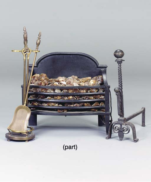 A GROUP OF FIREPLACE EQUIPMENT,