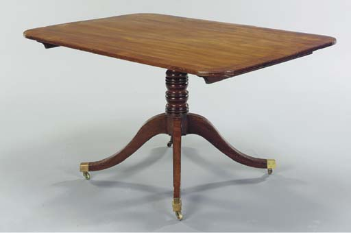 A REGENCY MAHOGANY AND ROSEWOO