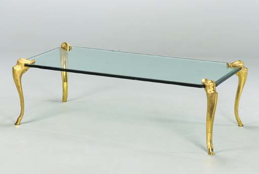 ONE GILT-METAL MOUNTED GLASS L