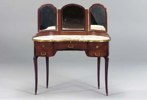 A LOUIS XV STYLE MARBLE TOPPED