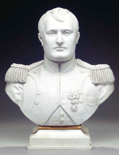 A WHITE BISCUIT PORCELAIN BUST