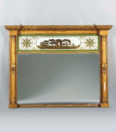 A FEDERAL STYLE VERRE EGLOMISE