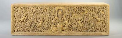 AN ITALIAN WHITE-PAINTED CARVE