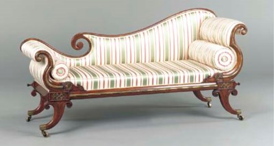 A REGENCY GILT-METAL MOUNTED R