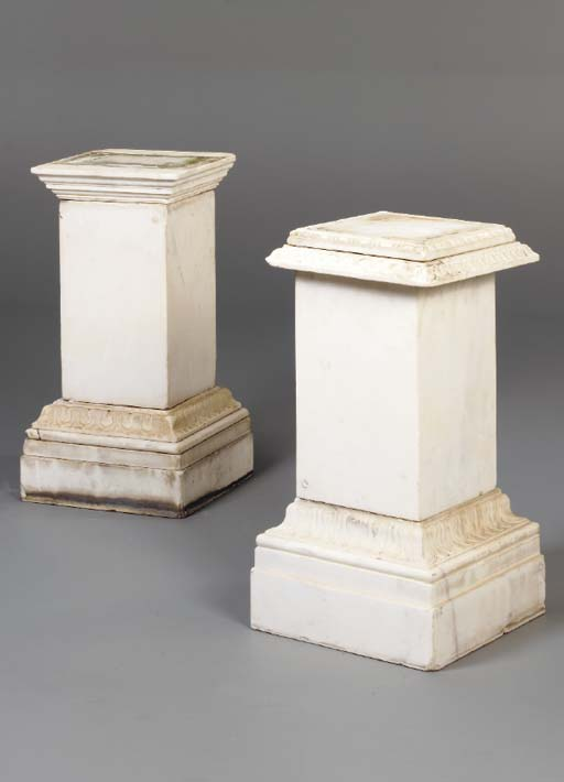 A MATCHED PAIR OF WHITE MARBLE