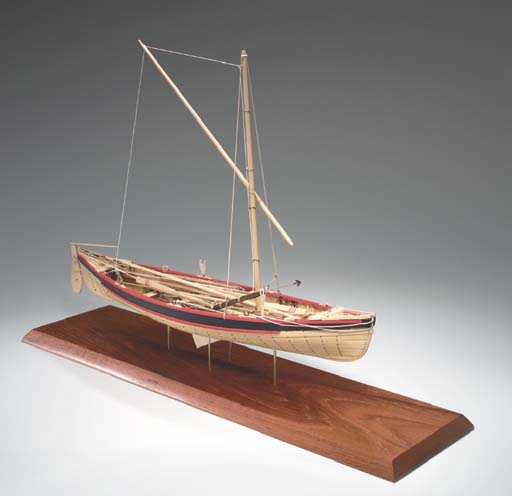 A scale model of a New England whale boat