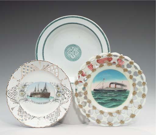 A souvenir ribbon plate from t