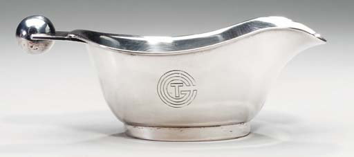 A gravy boat for the First class service on board the S.S. Normandie