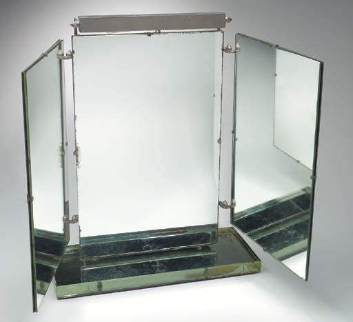 A three paneled mirror from th