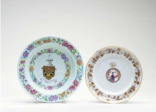 THREE CHINESE EXPORT PLATES,