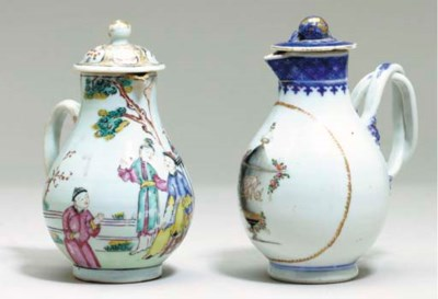 FOUR CHINESE EXPORT JUGS AND C