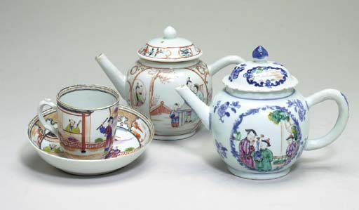 TWO CHINESE EXPORT PORCELAIN T