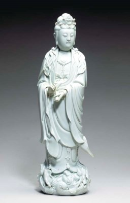 A BLANC-DE-CHINE FIGURE OF GUA