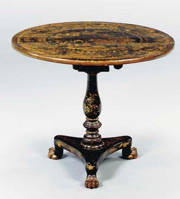 A CHINESE EXPORT GILT LACQUER
