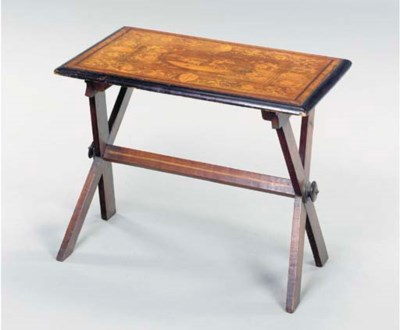 A CONTINENTAL INLAID FRUITWOOD