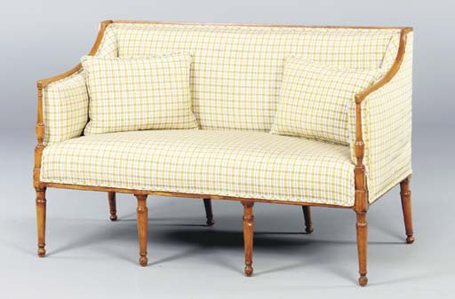A GEORGE III STYLE FRUITWOOD S