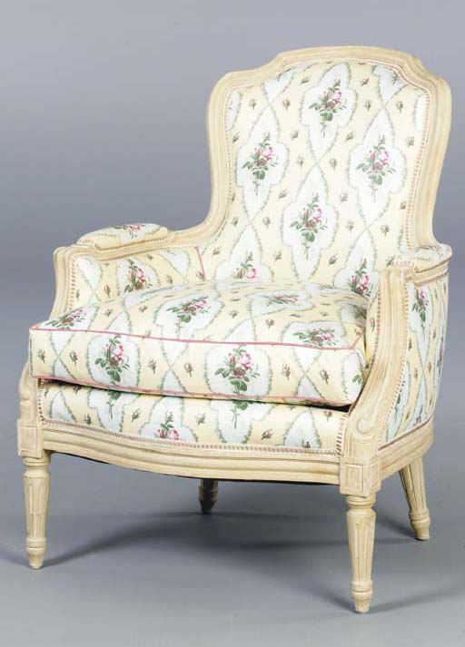 A LOUIS XVI STYLE BERGERE AND