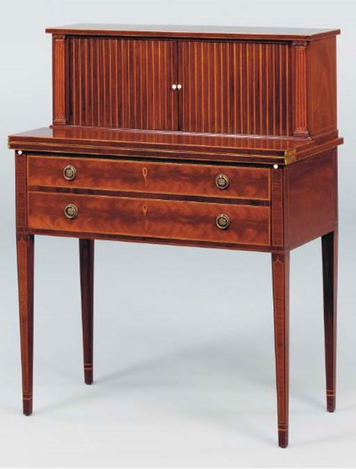 A FEDERAL STYLE SATINWOOD INLA
