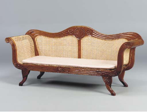 AN ANGLO INDIAN CARVED HARDWOO