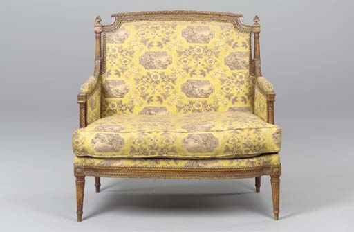 A LOUIS XVI BEECHWOOD MARQUISE