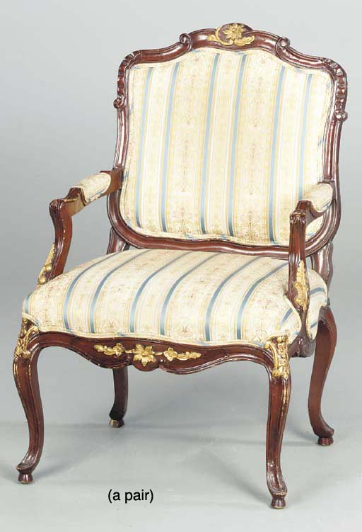 A PAIR OF LOUIS XV STYLE STAIN