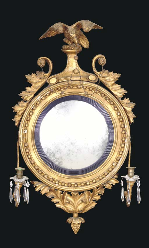 A REGENCY GILTWOOD AND PART EB