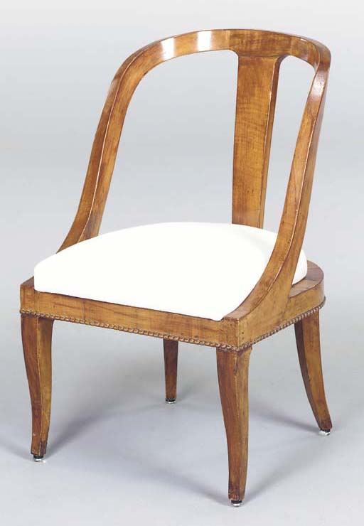 A BIEDERMIER STAINED FRUITWOOD
