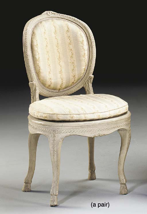 A PAIR OF LOUIS XV/XVI WHITE-P