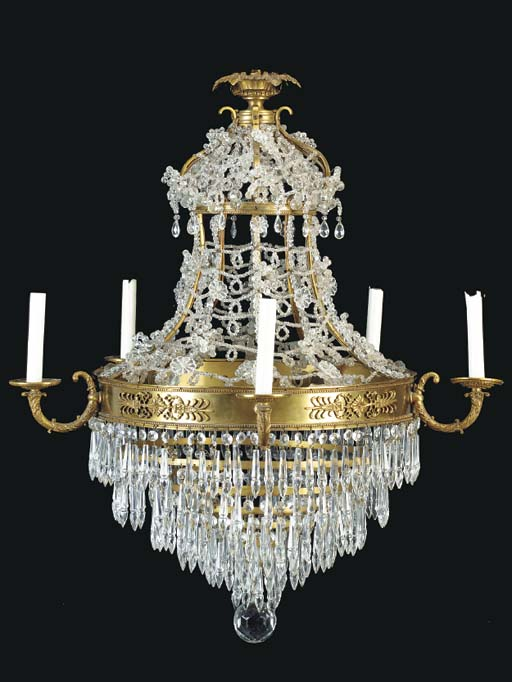 A BALTIC NEOCLASSIC STYLE GILT