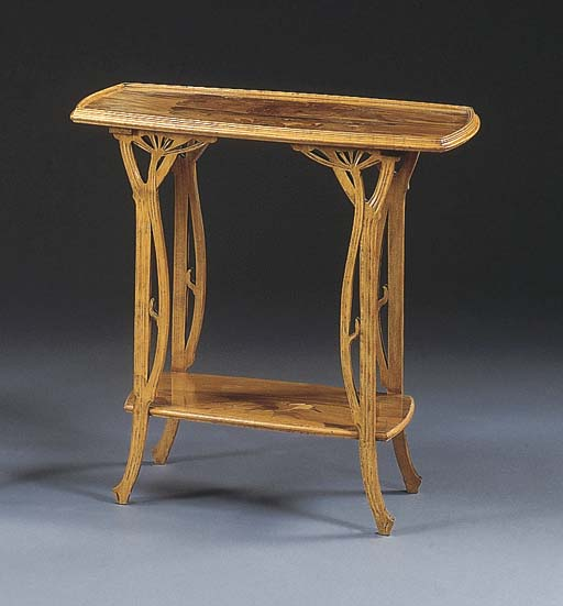 A MARQUETRY AND MAHOGANY TWO-T
