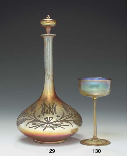 A FAVRILE GLASS CHAMPAGNE GOBL
