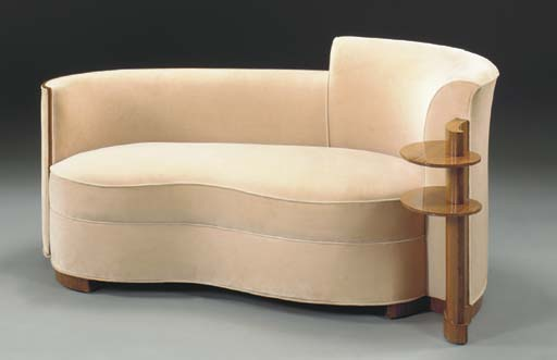 A ROSEWOOD CHAISE LONGUE