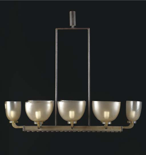 A GLASS AND METAL EIGHT-LIGHT