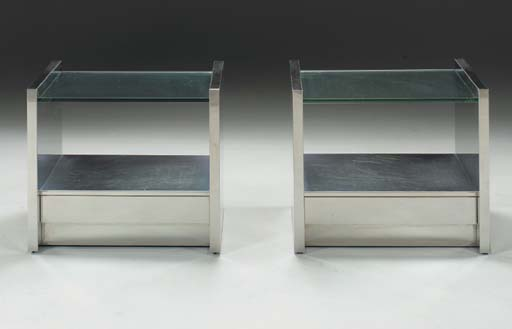 A PAIR OF STAINLESS STEEL AND