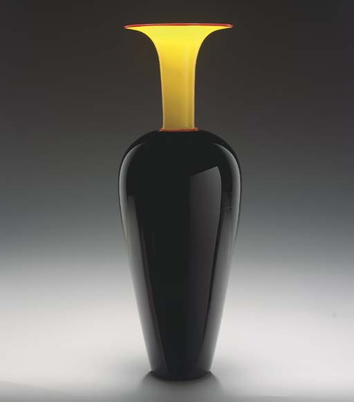 'SMALL WHOPPER', A GLASS VASE