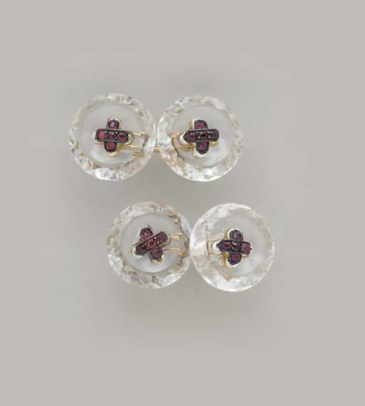 FOUR PAIRS OF CUFF LINKS