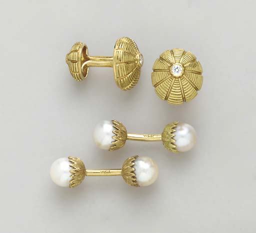 FOUR PAIRS OF GOLD AND GEM-SET