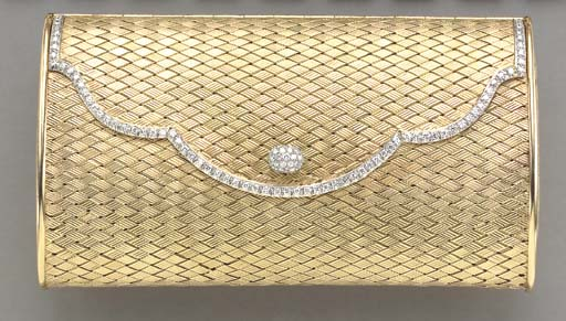 A GOLD AND DIAMOND PURSE, BY M