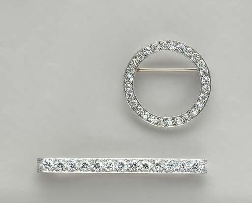TWO BELLE EPOQUE DIAMOND AND P