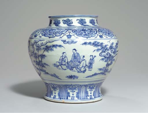 A WELL-PAINTED BLUE AND WHITE
