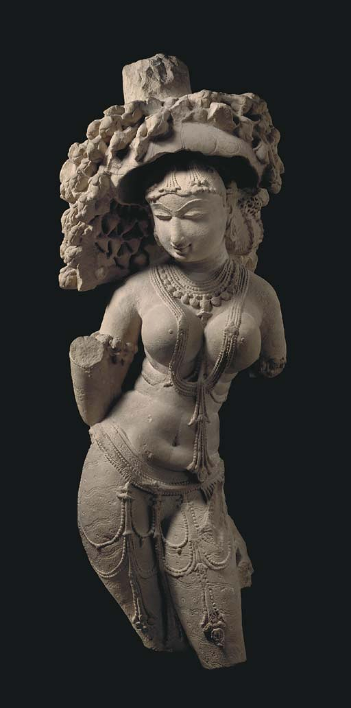A Sandstone Figure of a Celest