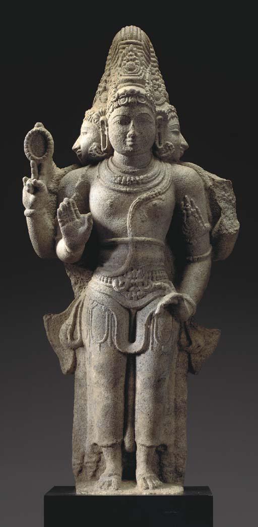 A Granite Figure of Brahma