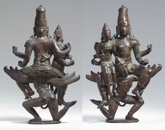 A Rare Bronze Figure of Vishnu