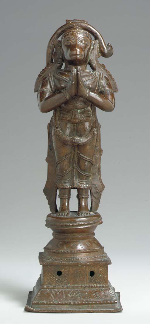 A Bronze Figure of Hanuman