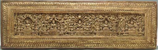 A Carved, Painted and Gilt Woo