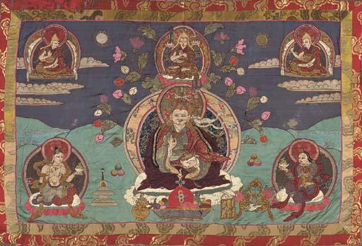 An Appliqué Thangka of Padmasa
