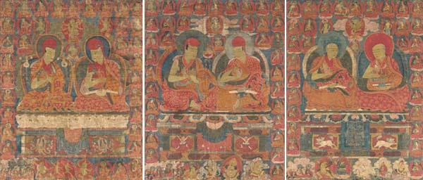 Three Sakya Thangkas of Lama P