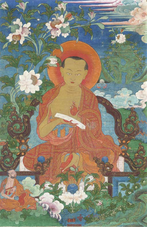A Thangka of the Arhat Pantaka