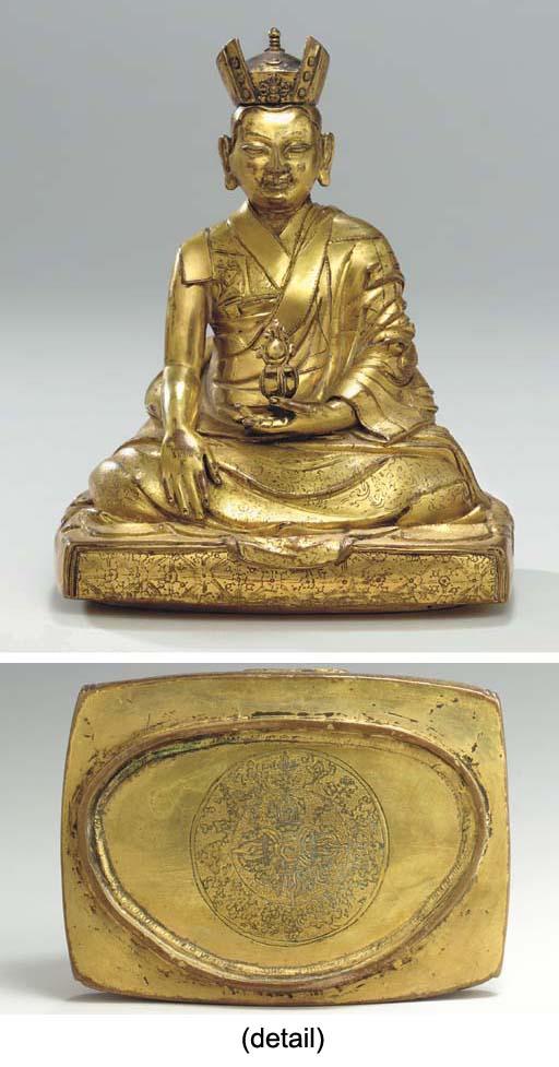 A Gilt Bronze Figure of a Karm