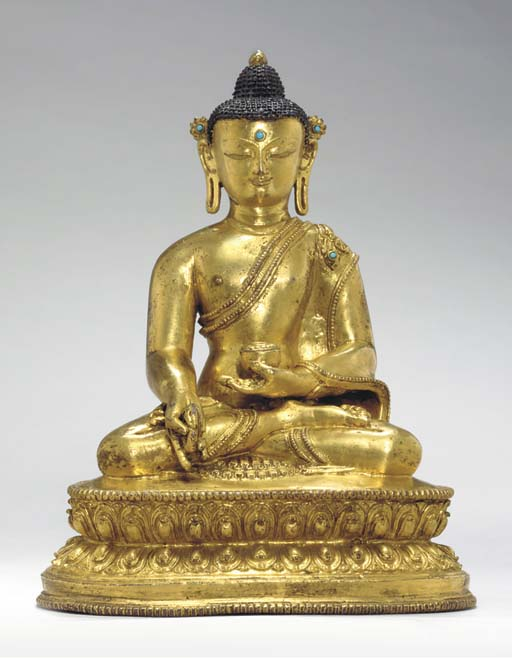 A Gilt Bronze Figure of the Me
